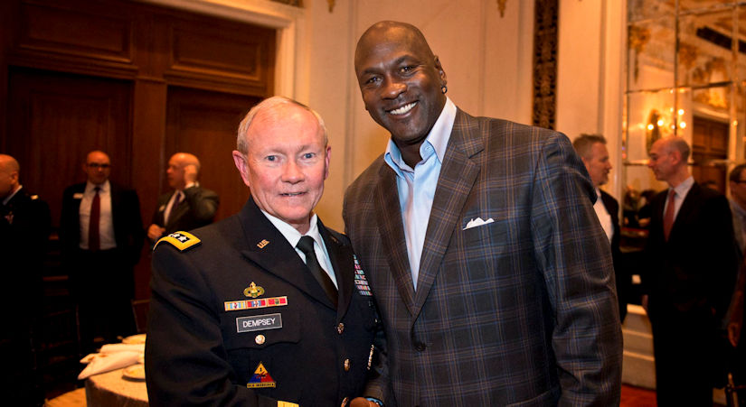 Michael Jordan and Army General Martin Dempsey